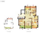 宏泰风花树3室2厅2卫122平方米户型图