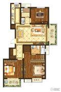 中垠紫金观邸3室2厅2卫122平方米户型图