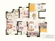 中环国际公寓三期3室2厅1卫126平方米户型图