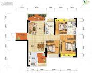 冠亚・御龙湾3室2厅2卫114平方米户型图