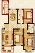 梦溪嘉苑NO.5(商铺)3室2厅2卫122平方米户型图