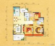 碧园・大城小院3室2厅2卫100--104平方米户型图