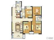 新城玖珑湖4室2厅2卫117平方米户型图
