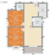 中元水韵尚品2室2厅2卫82平方米户型图