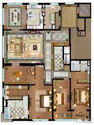 首创天禧3室3厅3卫394平方米户型图
