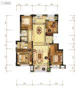 中信云邸4室2厅2卫158平方米户型图