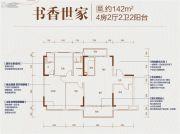 碧桂园天骄公馆4室2厅2卫142平方米户型图