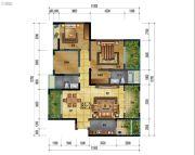万象国际城2室2厅2卫118平方米户型图