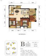 海赋长兴二期奥林阳光公园3室2厅1卫83平方米户型图