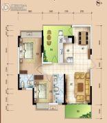 华安珑廷3室2厅2卫97平方米户型图