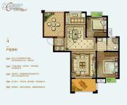 泓润新城华府3室2厅1卫93平方米户型图