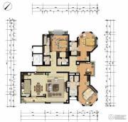月亮河・七星公馆3室2厅3卫260平方米户型图