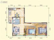 润莱金座2室2厅1卫78平方米户型图
