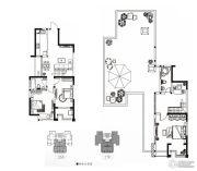 永通公馆3室3厅2卫145平方米户型图