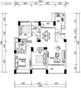 华发城建未来荟3室2厅2卫102平方米户型图