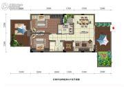 石梅半岛2室2厅1卫74平方米户型图