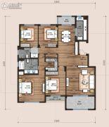 万科翡翠云台4室2厅2卫196平方米户型图