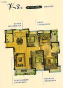 恒通蓝湾国际4室2厅2卫153平方米户型图