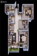 颐馨・湿地・壹�3室2厅1卫100平方米户型图