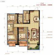 伟业公馆3室2厅2卫121平方米户型图