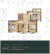 经典明苑2室2厅1卫86平方米户型图