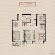 旭辉铂悦秦淮3室2厅1卫100平方米户型图