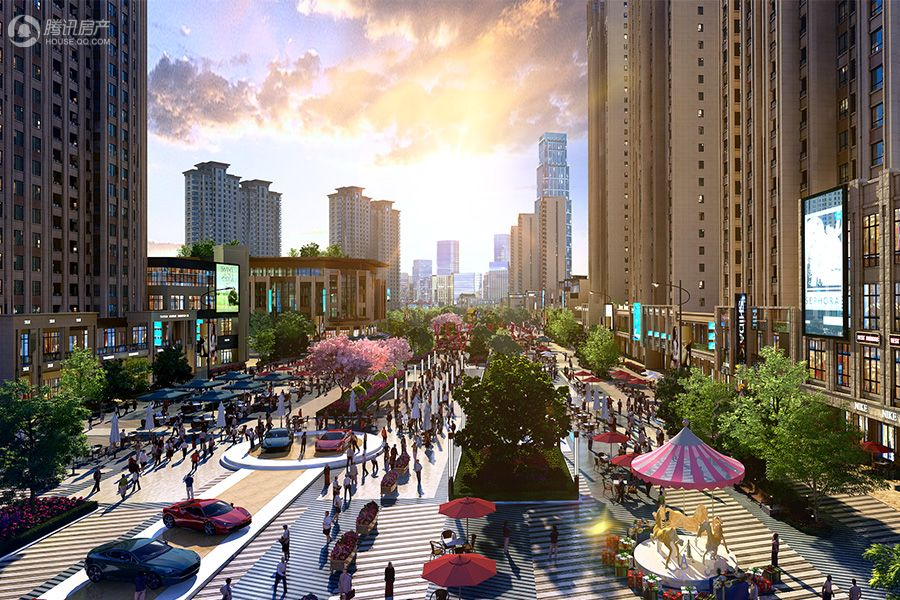 项目商业大街效果图