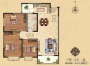 美伦・香颂3室2厅1卫111平方米户型图