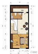 汇雄时代2室0厅1卫0平方米户型图
