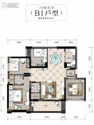 润田・利园3室2厅2卫110平方米户型图