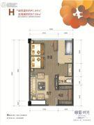 峨眉・时光1室1厅1卫41--57平方米户型图