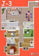 腾瑞・幸福里3室2厅2卫110平方米户型图