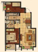 莱蒙顺泽・水榭花城2室2厅1卫81平方米户型图