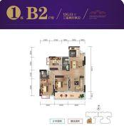 九嶷明珠3室2厅2卫126平方米户型图