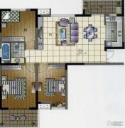 王子公馆3室2厅1卫110平方米户型图