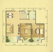 保利华庭2室2厅1卫90平方米户型图