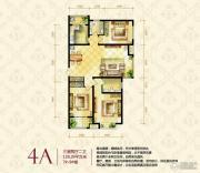 众美城廊桥四季3室2厅2卫0平方米户型图
