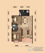 中环坐标城2室2厅2卫97平方米户型图
