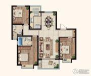中海玄武公馆3室2厅2卫129平方米户型图
