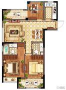 广宇・锦澜公寓3室2厅2卫97平方米户型图
