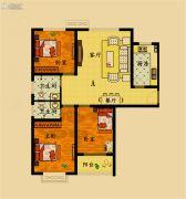 濮上名家3室2厅2卫118平方米户型图
