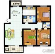 福郡雅居3室2厅2卫125平方米户型图