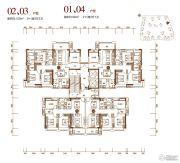 保利大都会4室2厅2卫90--120平方米户型图