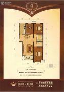 滨河龙韵3室2厅2卫129平方米户型图