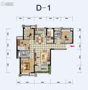 福星惠誉东湖城3室2厅2卫129平方米户型图