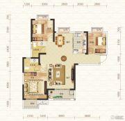 钓鱼台二期3室2厅2卫115平方米户型图