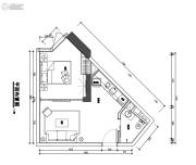 翰林尚品1室1厅1卫42平方米户型图