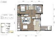COSMO天廊2室2厅2卫87平方米户型图
