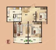 爱法山水国际3室2厅1卫105平方米户型图