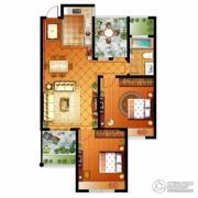 信达银郡2室2厅1卫97平方米户型图